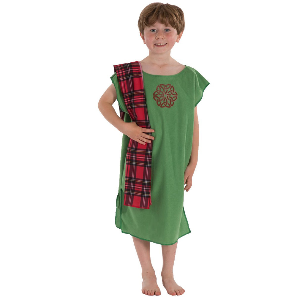 Image of Green Celt costume for kids | Charlie Crow
