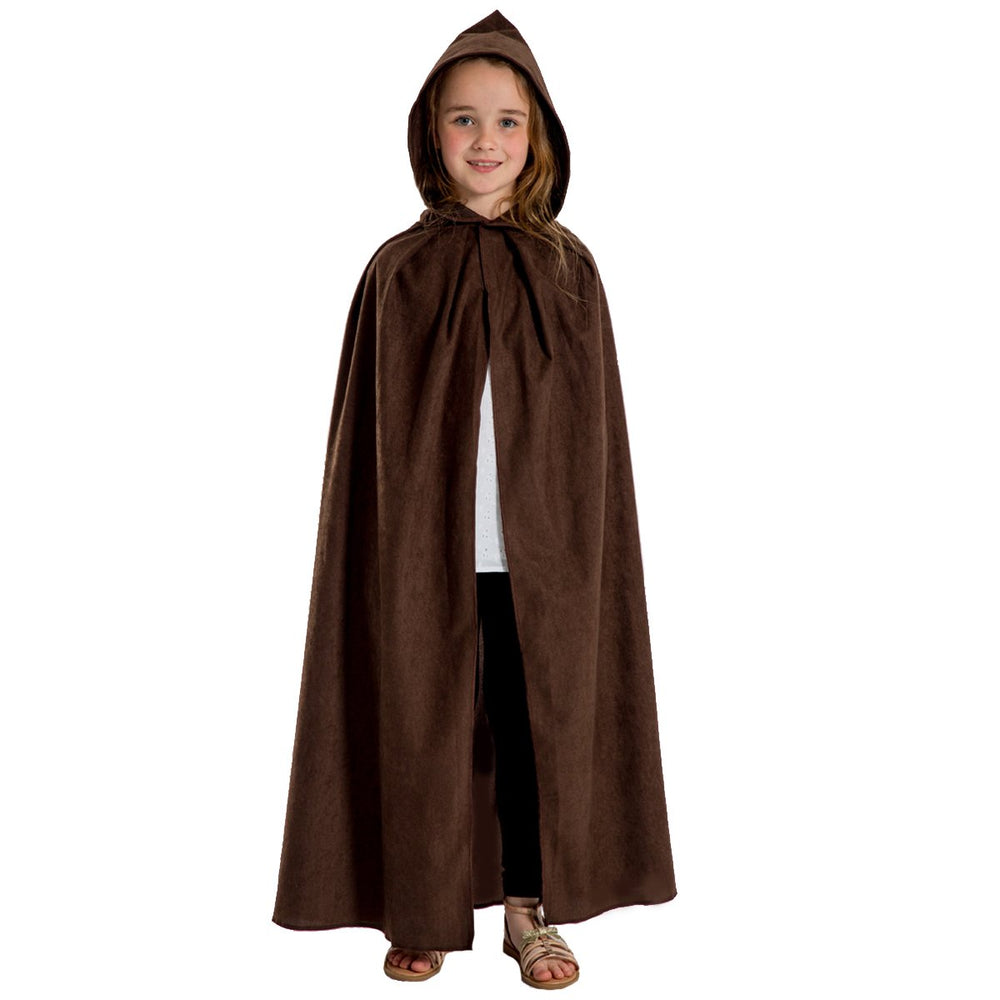 Image of Dark Brown  cloak costume for kids | Charlie Crow