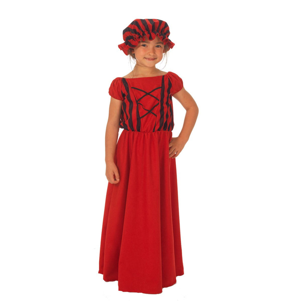 Image of Red Peasant costume for girls | Charlie Crow