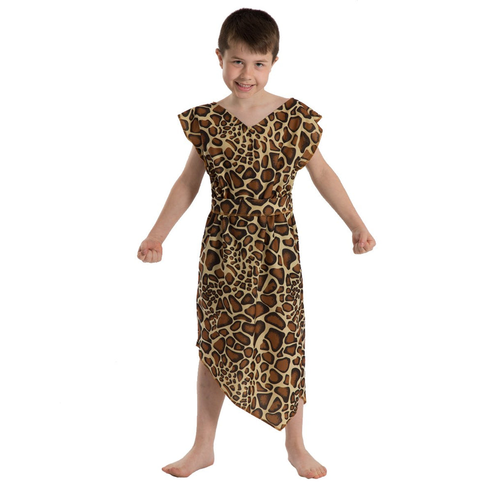 Image of Kids Giraffe Caveman Stone Age dressing up | Charlie Crow