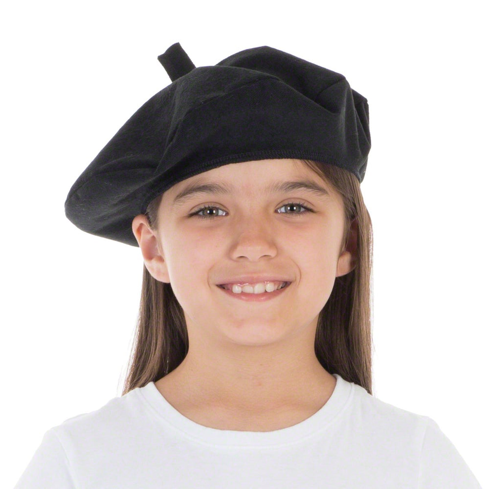 Image of Black Beret French hat costume for kids | Charlie Crow