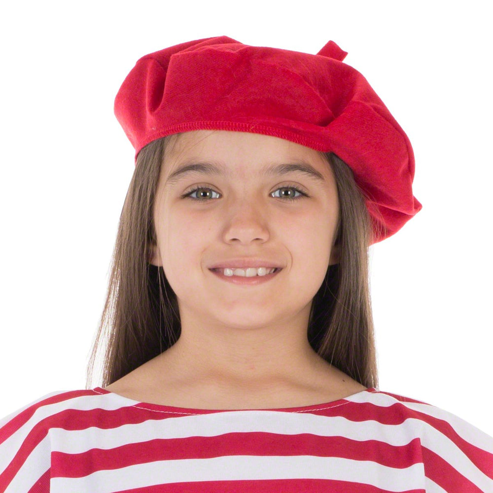 Image of Red Beret French hat costume for kids | Charlie Crow