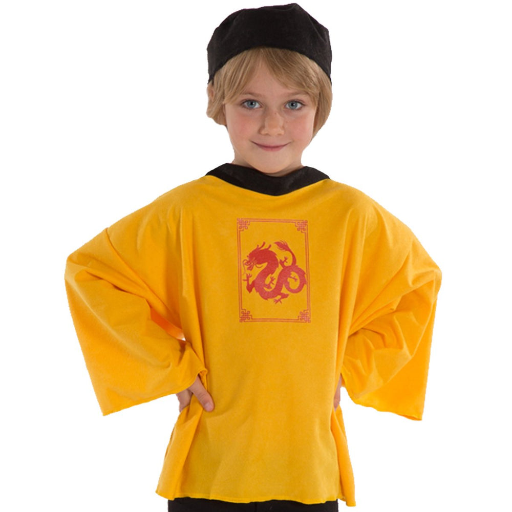 Image of Yellow Chinese New Year costume for kids | Charlie Crow