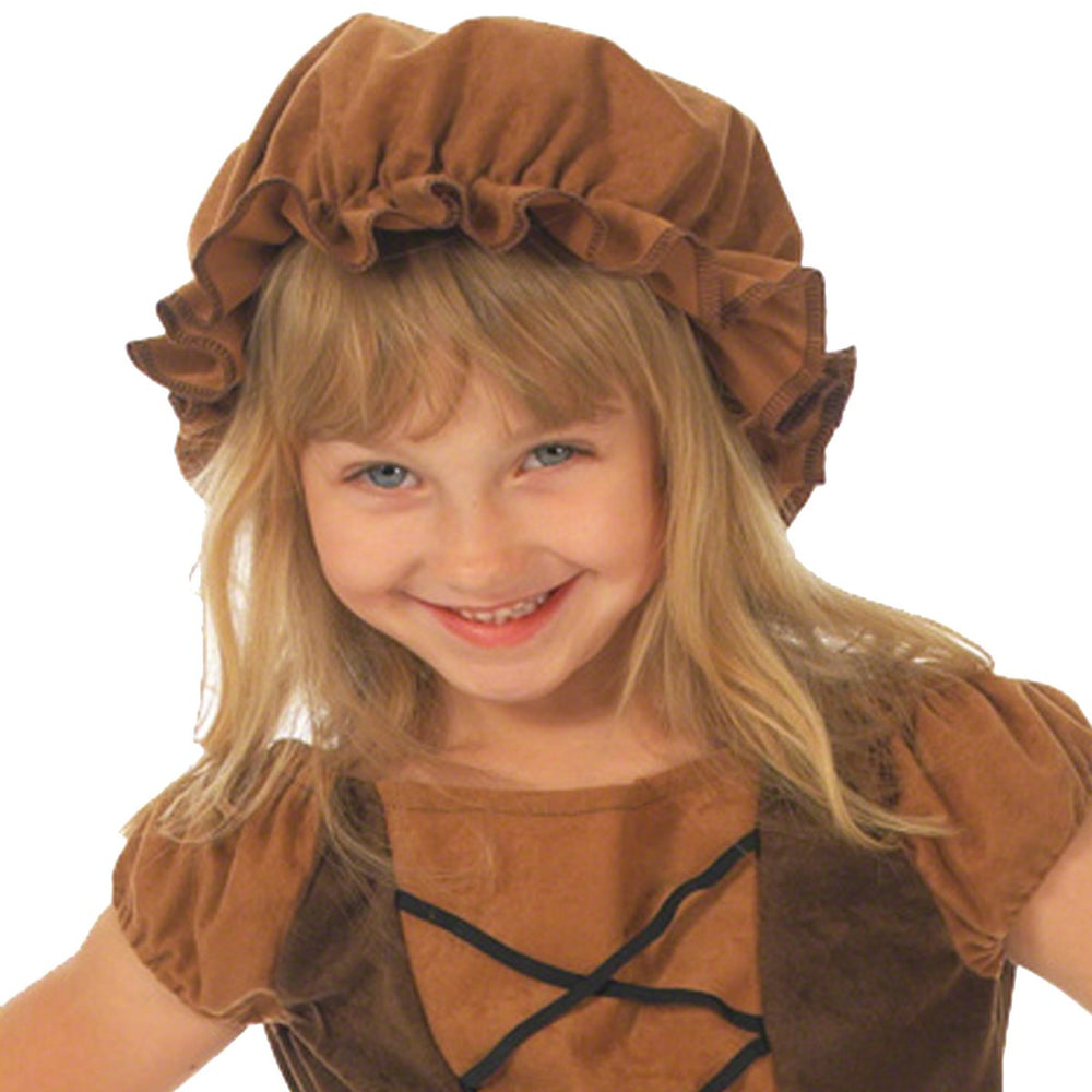 Image of Kids brown peasant girl mob fancy dress hat | Charlie Crow