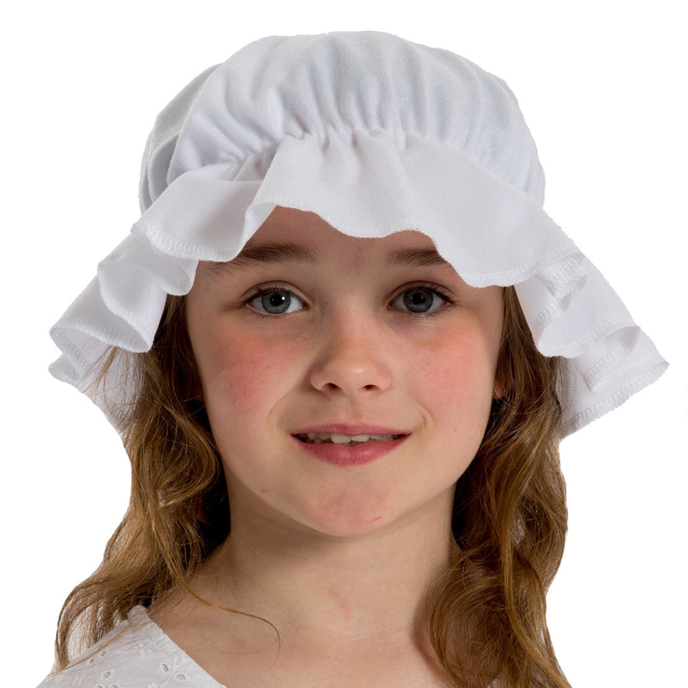Image of Kids white peasant girl mob fancy dress hat | Charlie Crow