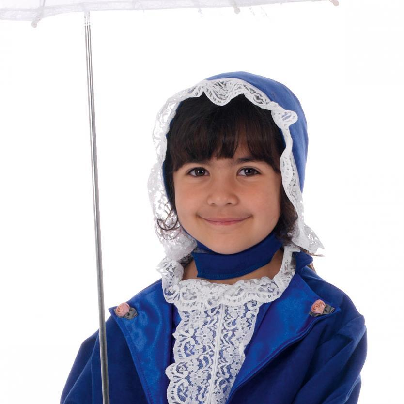 image of Girls Victorian Bonnet fancy dress accessory | Charlie crow