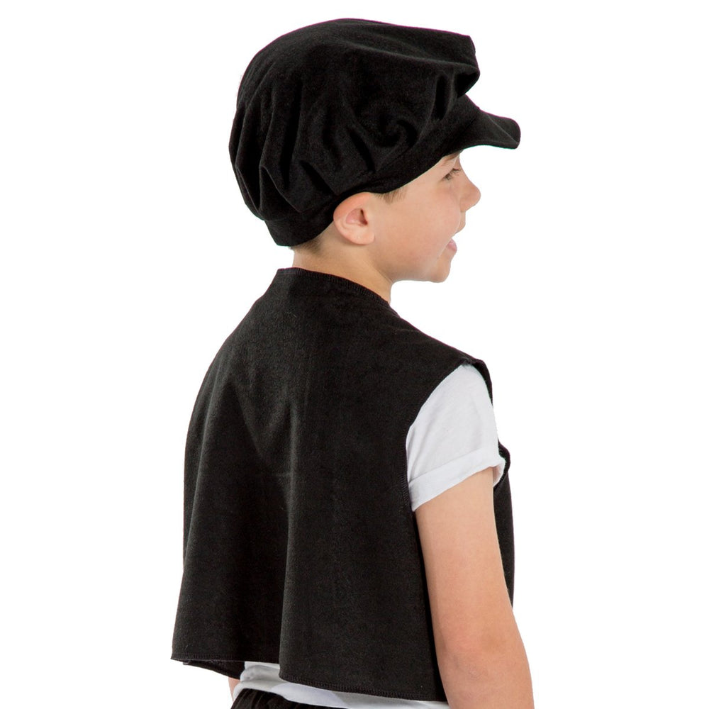 Image of Victorian boys waistcoat cap fancy dress set |Charlie Crow
