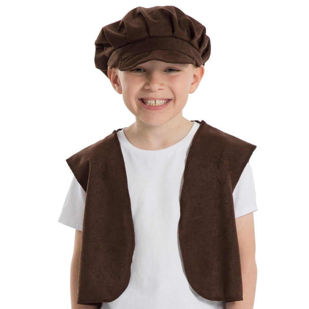 Image of Victorian urchin cap waistcoat fancy dress set | Charlie Crow