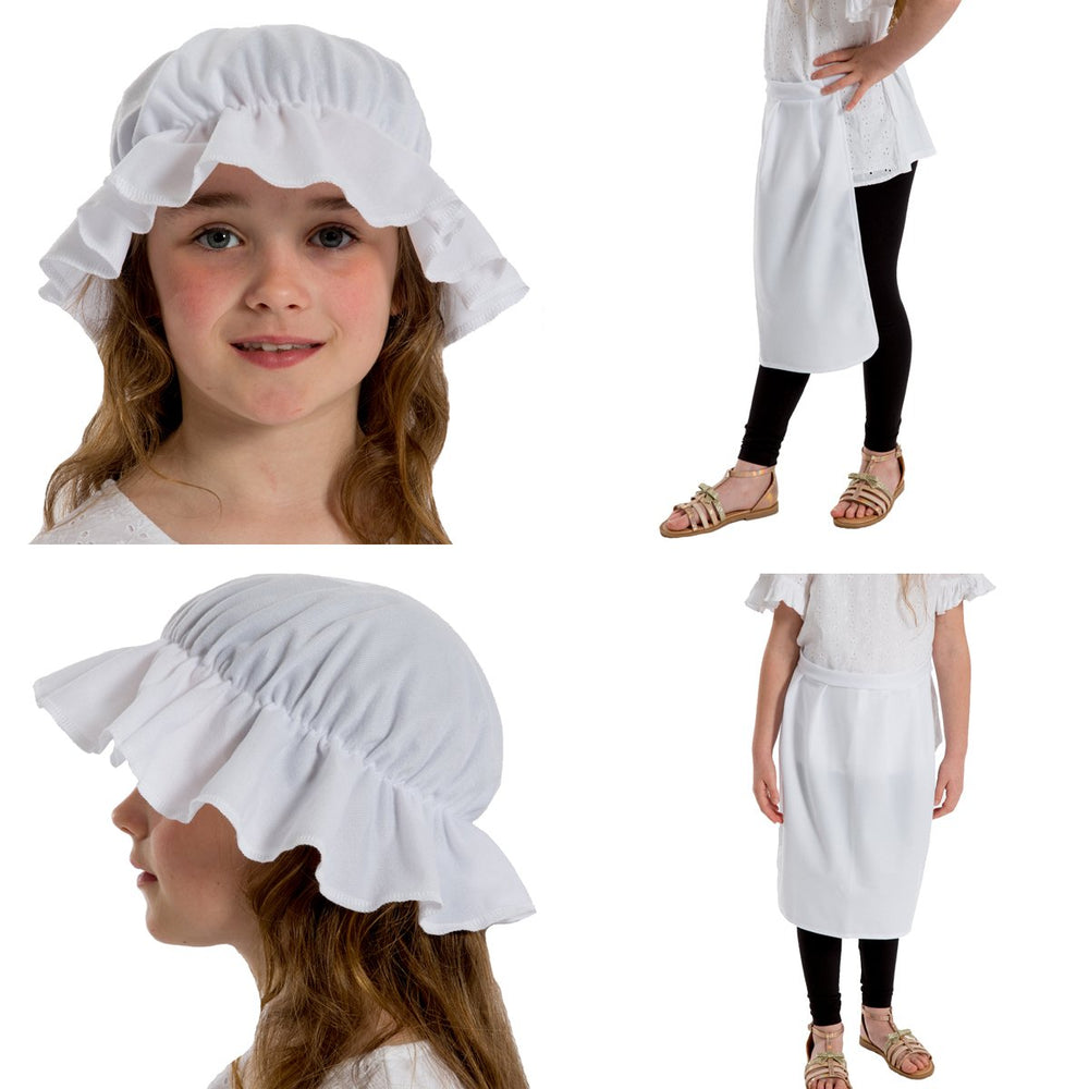 Image of Girls Mob Hat Apron fancy dress set | Charlie Crow