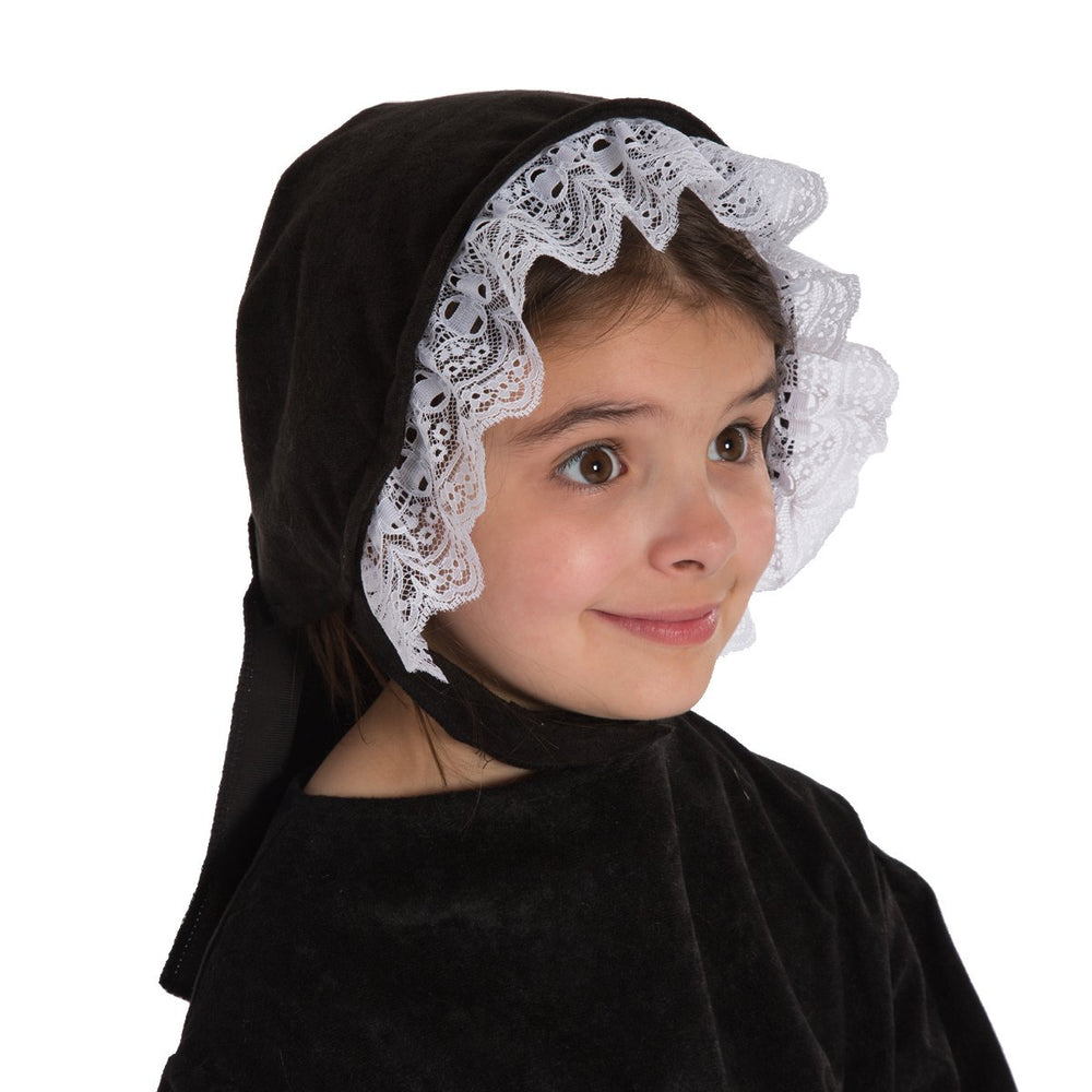 Image of Peasant girl Victorian Bonnet costume accessory | Charlie Crow