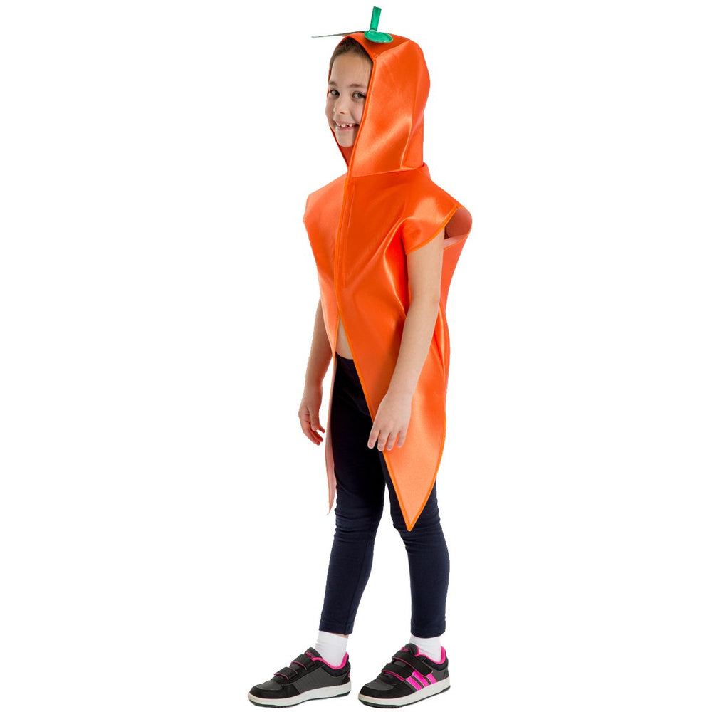 Image of Carrot Fruit Veg kids dress up costume | Charlie Crow