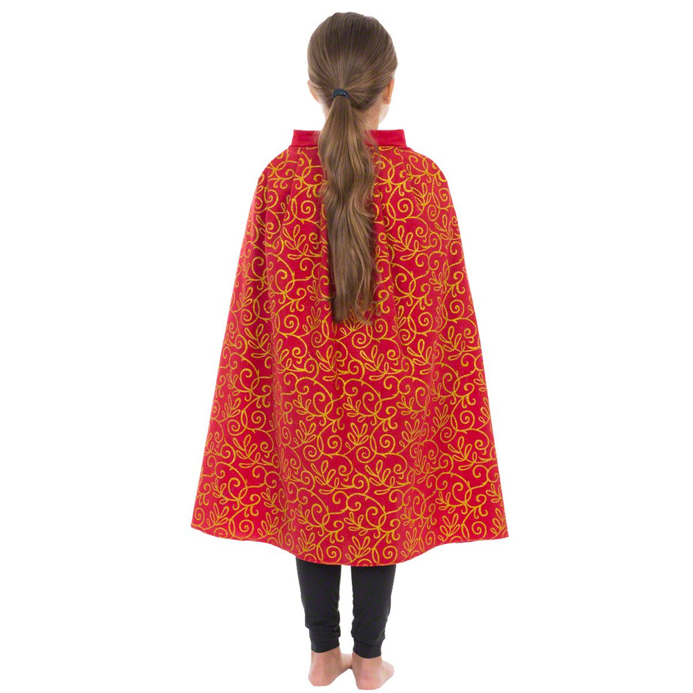 Image of Red|Gold superhero Cape kids fancy dress | Charlie Crow