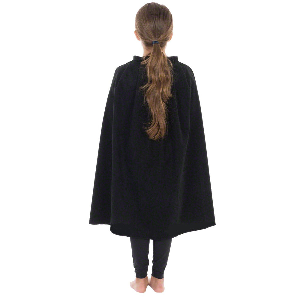 Image of Black superhero Cape kids fancy dress costume | Charlie Crow