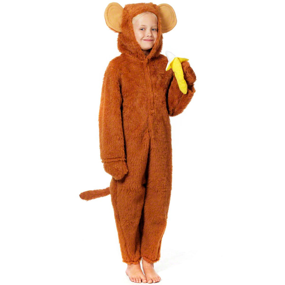 Boys Girls Monkey Animal Zoo Wild Book Day Carnival Fancy Dress Costume Outfit