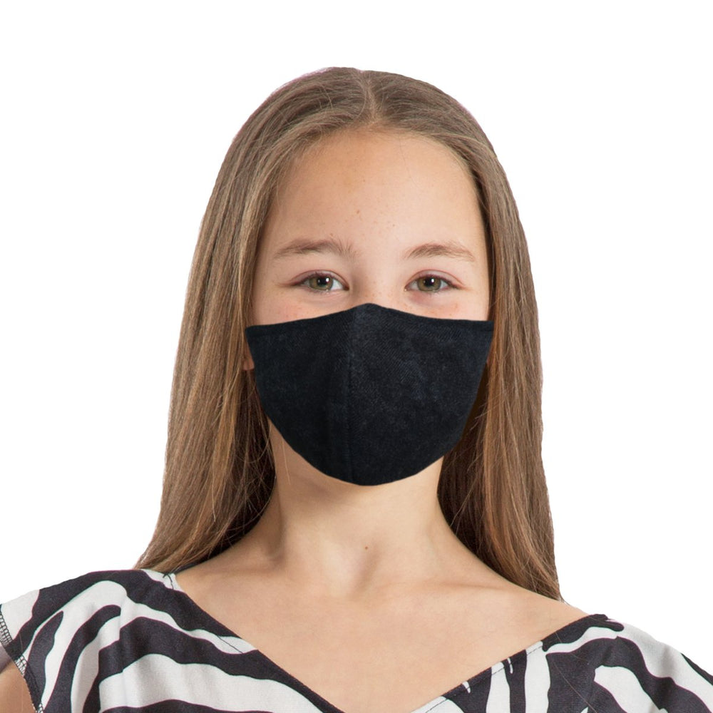 Image Face coverings design for children and adults in black| Charlie Crow
