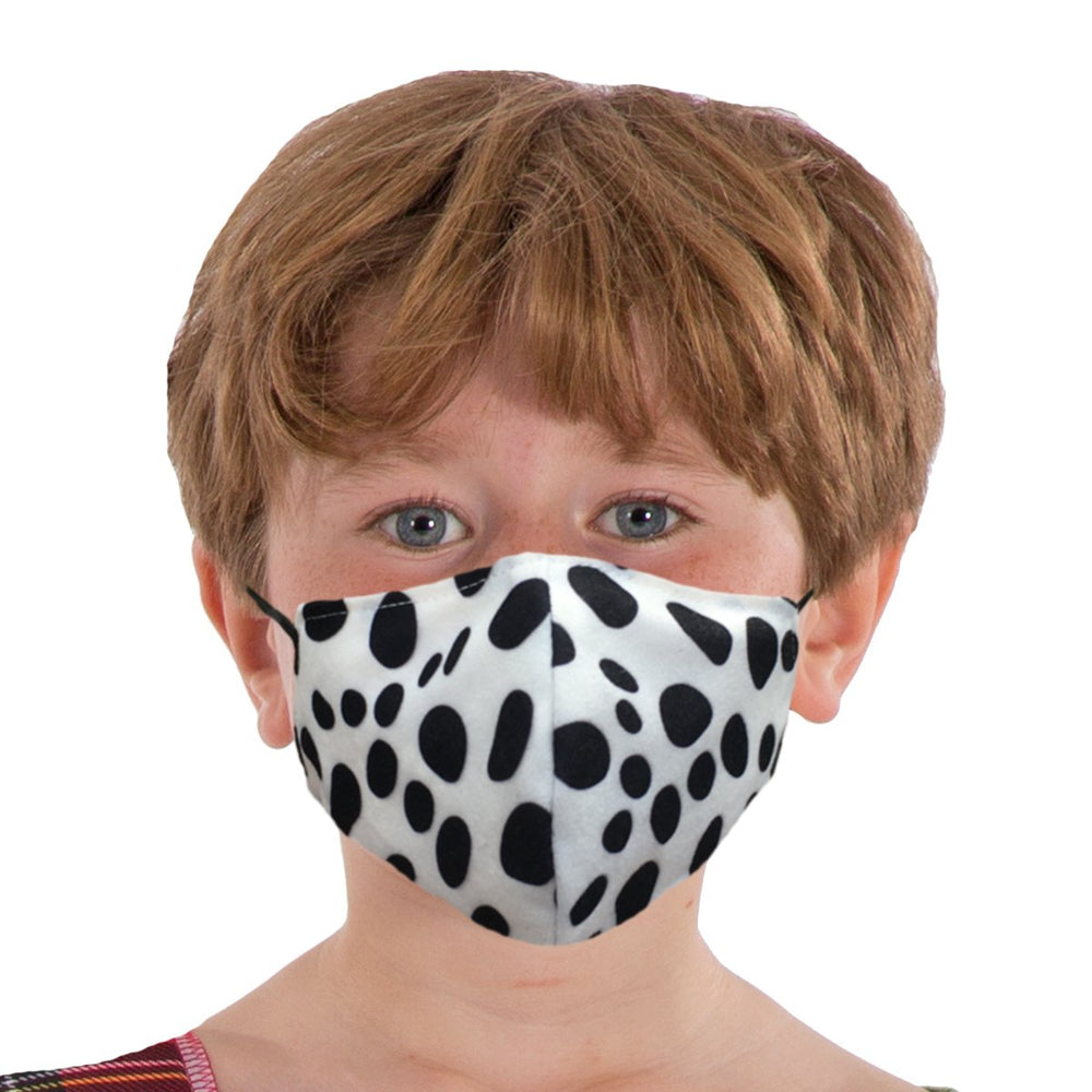 Image Face coverings design for children and adults | dalmatian animal print| Charlie Crow