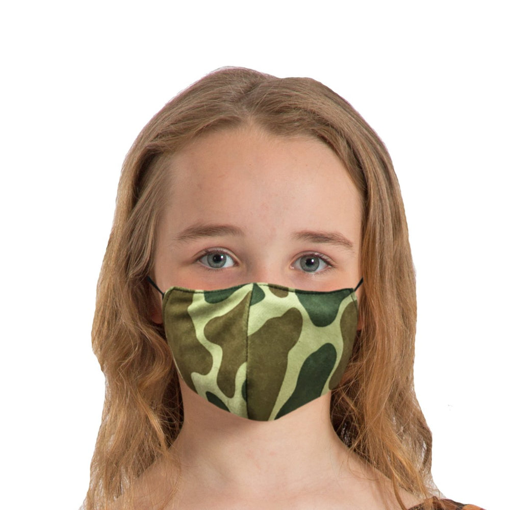Image Face coverings design for children and adults | Dinosaur animal print| Charlie Crow