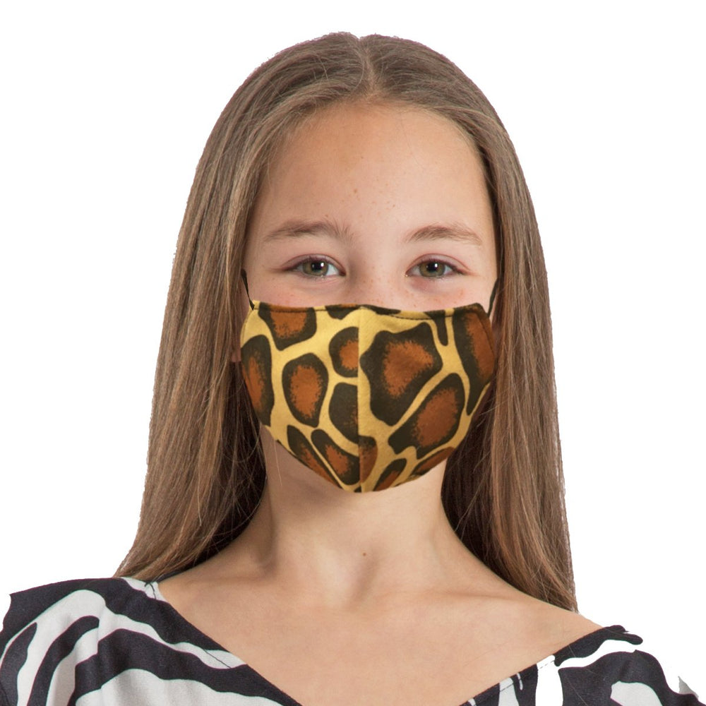 Image Face coverings design for children and adults | Giraffe animal print| Charlie Crow