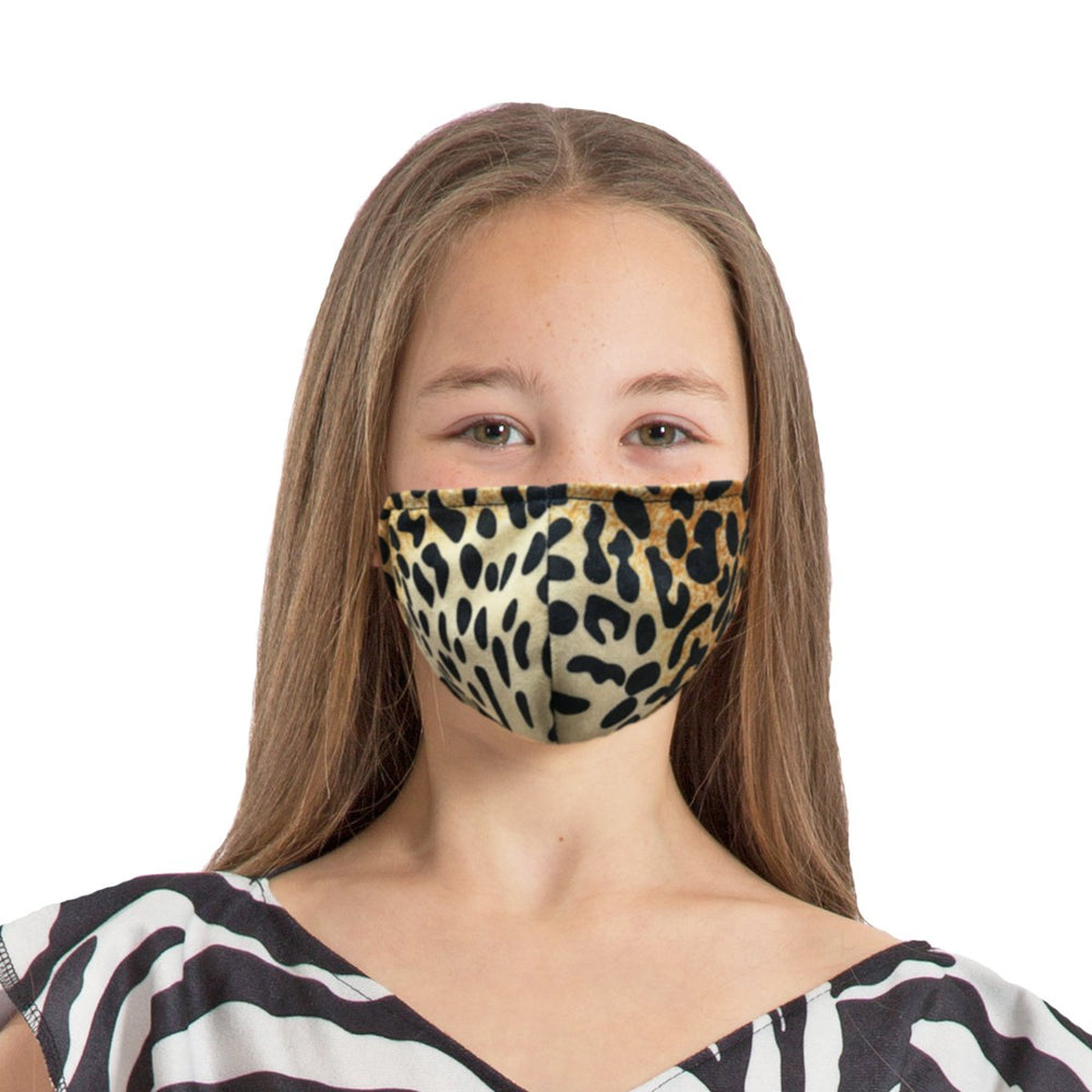 Image Face coverings design for children and adults | Leopard animal print| Charlie Crow
