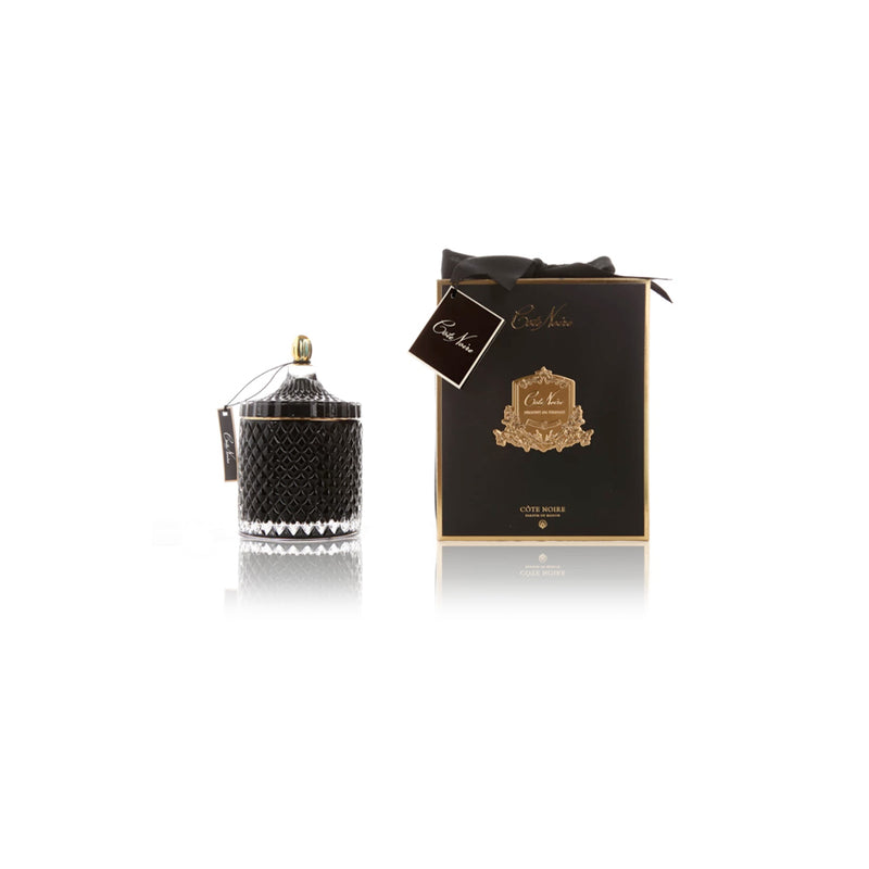 Grand Black Art Deco Candle - 500g