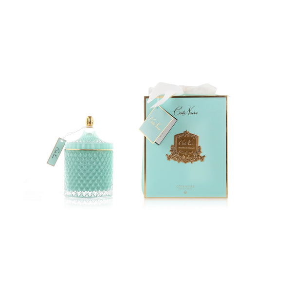 Grand Tiffany Blue Art Deco Candle - 500g