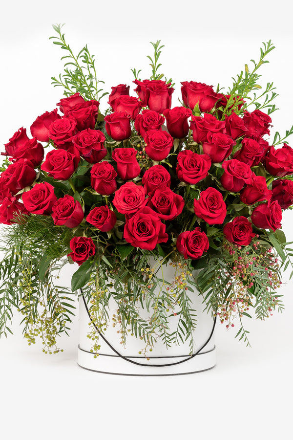 Cupids Roses (3+ Dozen Colombian Red Roses)