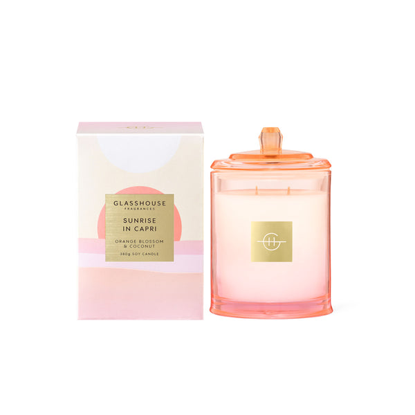 Sunrise In Capri - Limited Edition 380g Soy Candle Glasshouse Fragrances