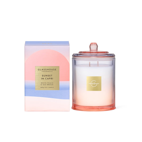 Sunset In Capri - Limited Edition 380g Soy Candle Glasshouse Fragrances