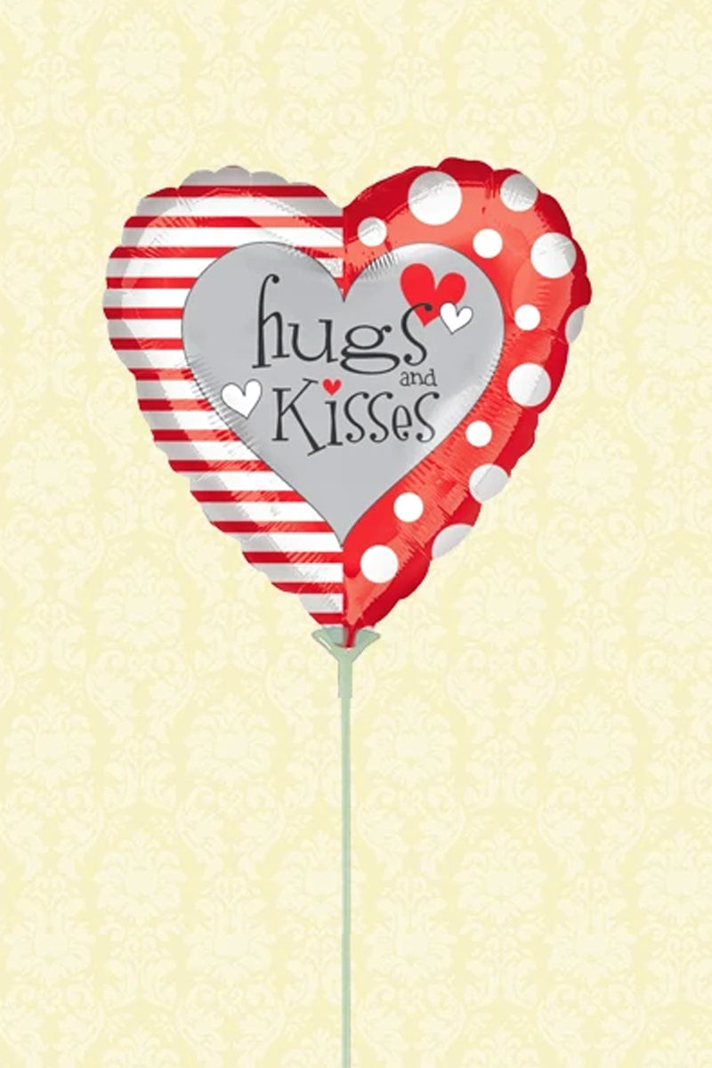 Air-Filled Balloon - Hugs & Kisses