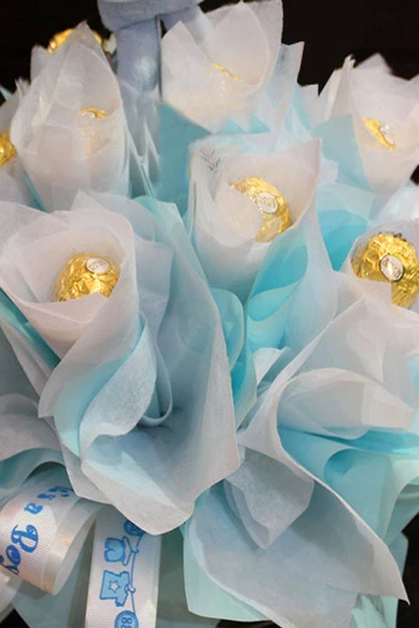 Pale Blue Chocolate Bouquet