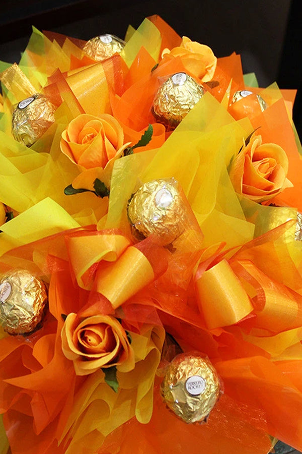 Orange & Yellow Chocolate Bouquet