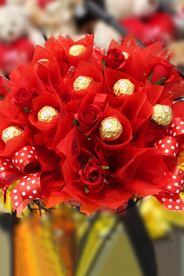 Ruby Red Chocolate Bouquet
