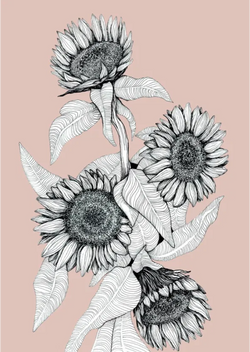 Sunflower Bunch Print