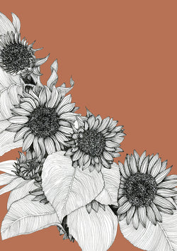 Sunflower Oblique Print