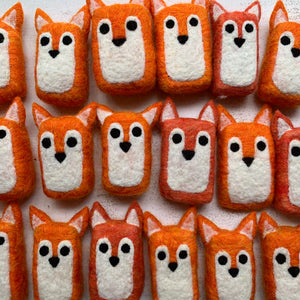 Fox felted soap saver