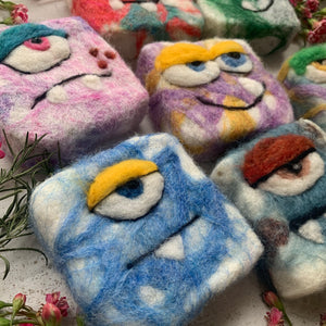 Mystery Felted Monsters