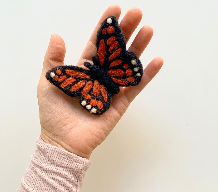 felted monarch butterfly