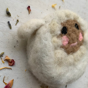 Felted Sheep Soap Saver