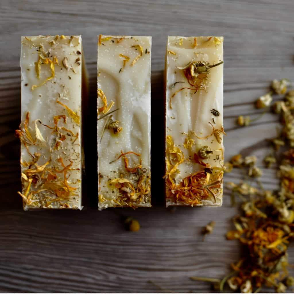 not aveeno soap but our handmade oatmeal soap stands up to any soaps quality, this bar is 5-6 ounces