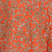 Hand Embroidered Fabric Design # 4168 - Burnt Orange - Per Yard
