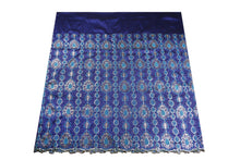 Load image into Gallery viewer, Hand Stoned George Wrapper Design # 6548 - Royal Blue - Without Blouse