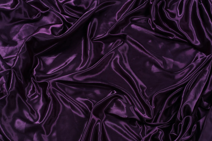 Poly Silk Satin - Eggplant - 5 Yard Piece