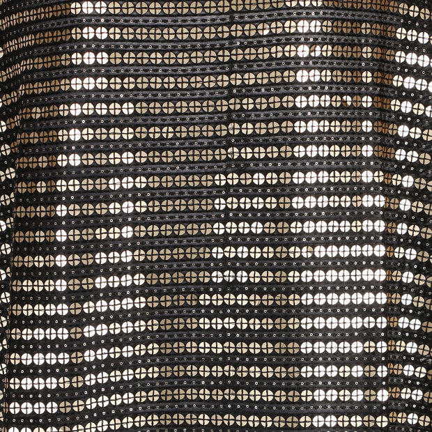 Machine Embroidered Fabric Design # 4130 - Black - Per Yard