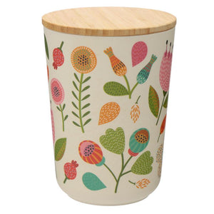 Autumn Falls Bamboo Fibre Storage Jars - 3 Sizes BambooBeautiful Ltd medium