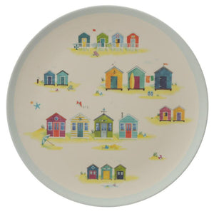 Bamboo Fibre Beach Hut Reusable Side Plate Set of 4 plates BambooBeautiful