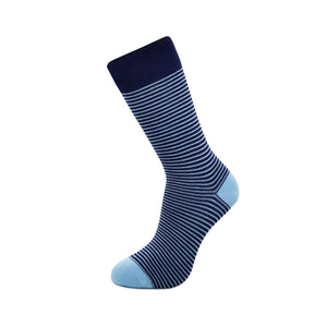 Slopes and Town Bamboo Socks Light and Blue Stripey single sock