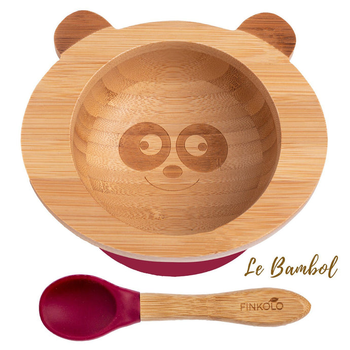 Bamboo Suction Bowl and Spoon - Panda BambooBeautiful Ltd