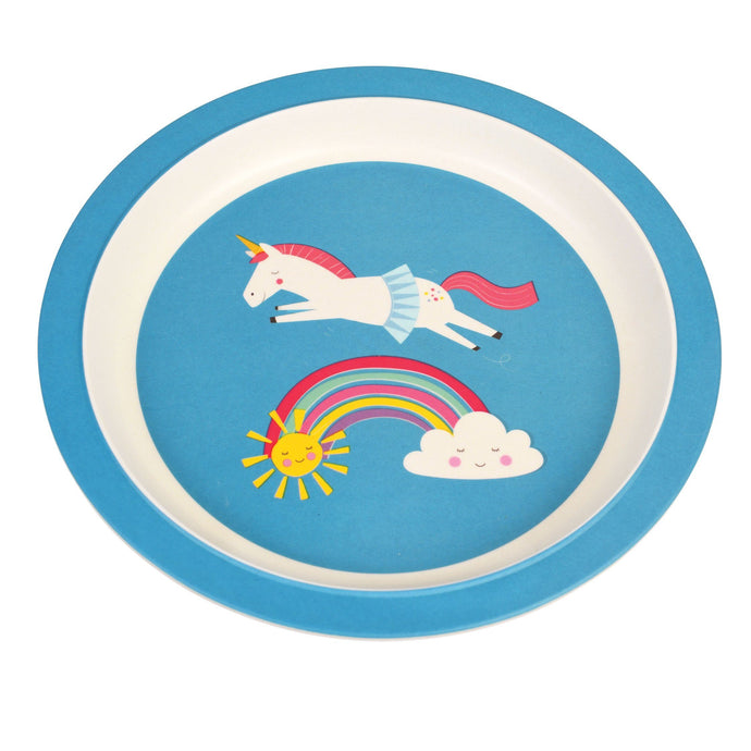 Kids Bamboo Plate - Magical Unicorn plates BambooBeautiful