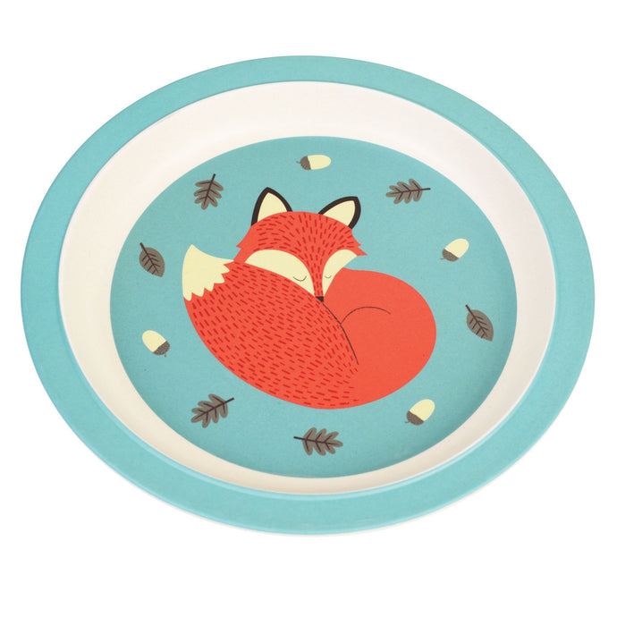 Kids Bamboo Plate - Rusty the Fox plates BambooBeautiful