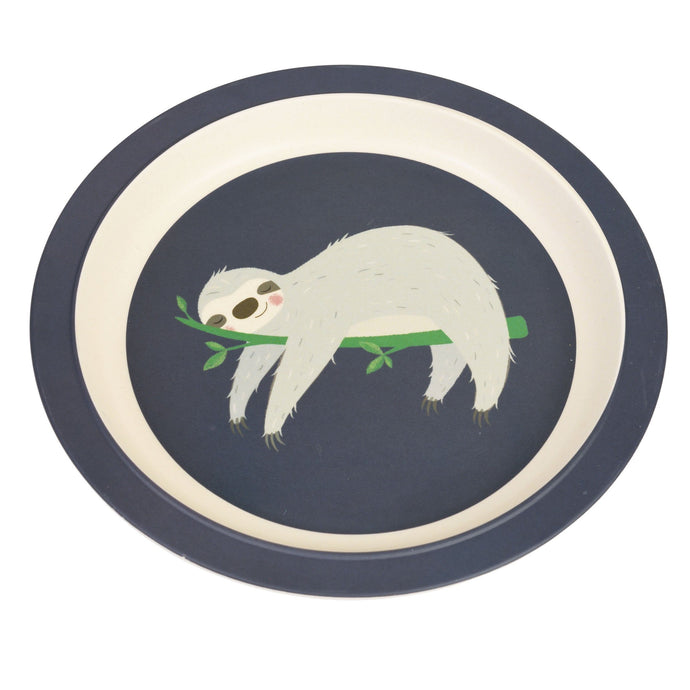 Kids Bamboo Plate - Sydney The Sloth plates BambooBeautiful